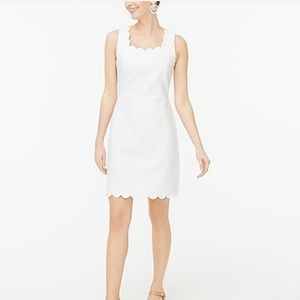 J. Crew scalloped square-neck white dress